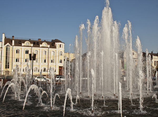 Музыкальный фонтан в Астрахани